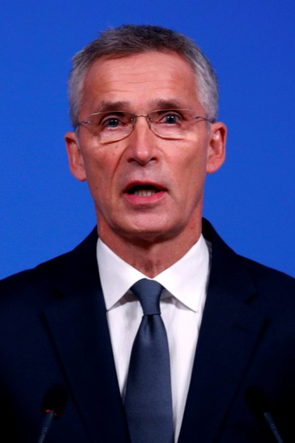 NATO Secretary-General Stoltenberg holds a news conference at the alliance's headquarters in Brussels