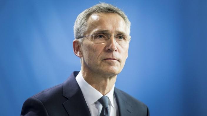 Jens Stoltenberg Generalsekretaer der NATO North Atlantic Treaty Organization aufgenommen bei ei