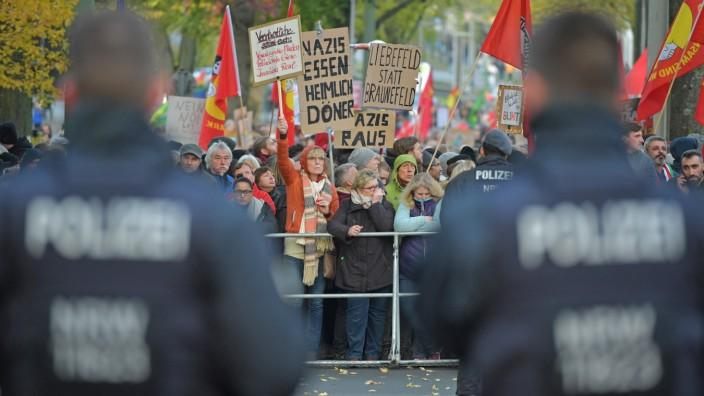 Neo-Nazis March In Bielefeld In Support Of Ursula Haverbeck