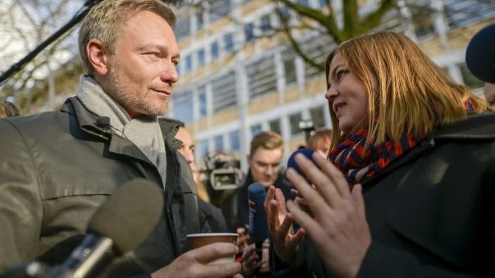 Christian Lindner spricht vor der Hamburger Uni