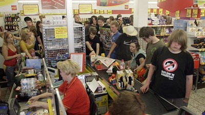 Arbeit im Supermarkt