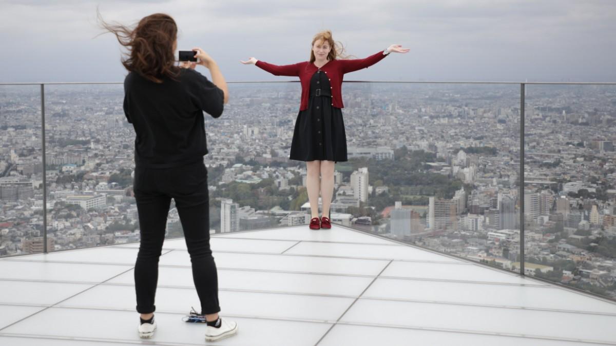 Plattform Shibuya Sky: Über dem Irrsinn von Tokio