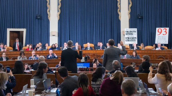 House Permanent Select Committee on Intelligence hearing on the impeachment inquiry into US President Donald J. Trump, Washington, USA - 13 Nov 2019