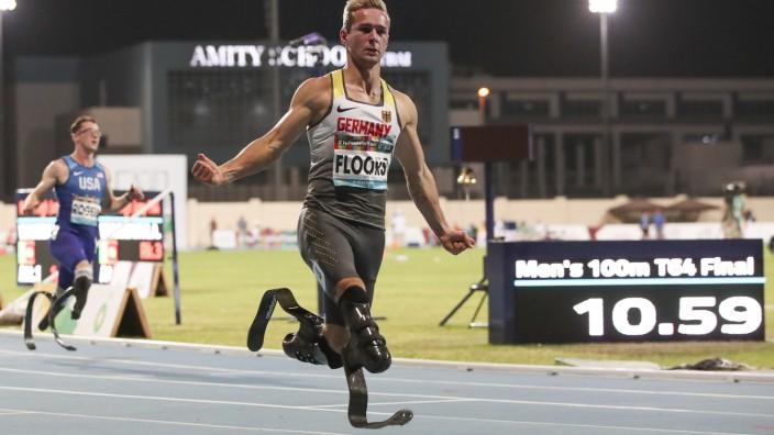 Dubai 2019 World Para Athletics Championships; United Arab Emirates, 11.11.2019 Weltmeister ueber 100m: Johannes Floors