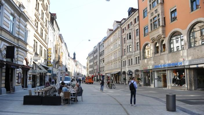 Fußgängerzone Sendlinger Straße in München, 2019