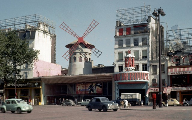 Paris Moulin Rouge historisches Foto von 1962 *** Paris Moulin Rouge historical photo from 1962