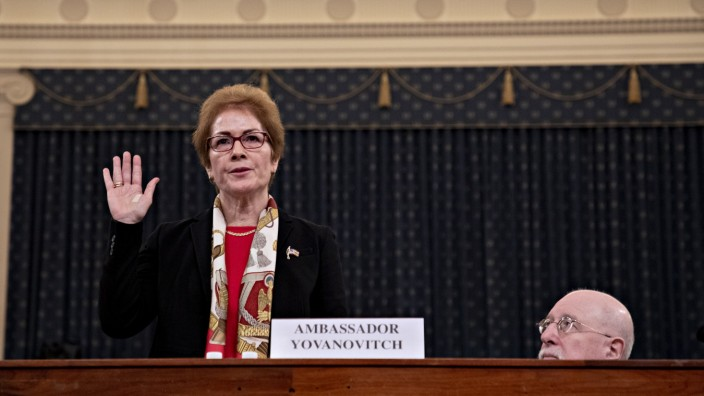 Former U.S. Ambassador To Ukraine Marie Yovanovitch Testifies Before House Intelligence Committee
