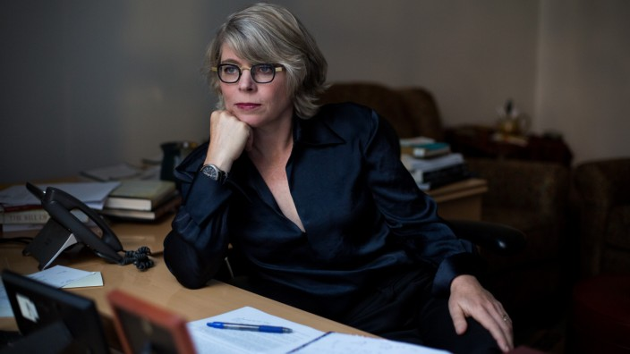 Historian and author Jill Lepore in her office at Harvard University in Cambridge, Mass., on September 5, 2018.