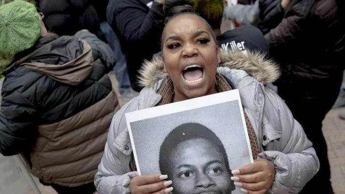 Rodney Reed auf einem Bild einer Demonstrantin
