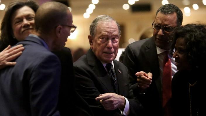 Michael Bloomberg Speaks At Predominantly Black Church In Brooklyn, New York