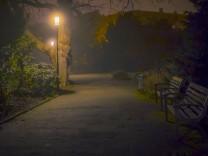 Dunkelheit Laterne Zwielicht