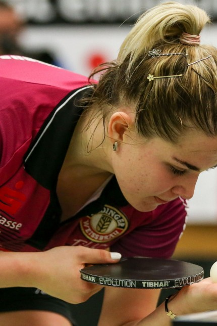 despor 2019.11.09 Tischtennis 1.Bundesliga Frauen TSV 1909 Langstadt - TSV Schwabhausen emspor, emonline, oespor, v.l.,