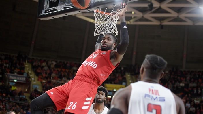 19.11.2019, xemx, Basketball EuroLeague, FC Bayern Muenchen - Olympiakos Piraeus emspor, v.l. Mathias Lessort (FC Bayer