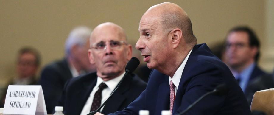 U.S. Ambassador to EU Sondland testifies at House Intelligence Committee hearing on Trump impeachment inquiry in Washington