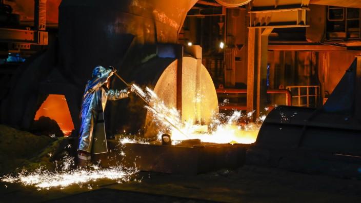 15 04 2019 Duisburg Ruhrgebiet Nordrhein Westfalen Deutschland ThyssenKrupp Steel ein Stahlar