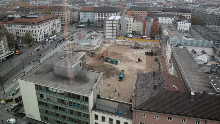 Die Baustelle auf dem Gelände des Münchner Hauptbahnhofs.