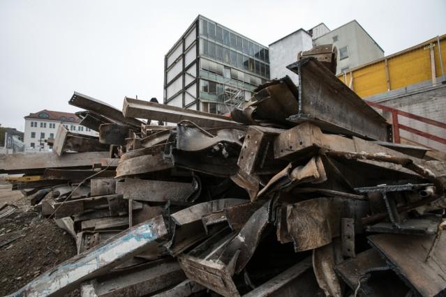 Abriss Baustelle Hauptbahnhof