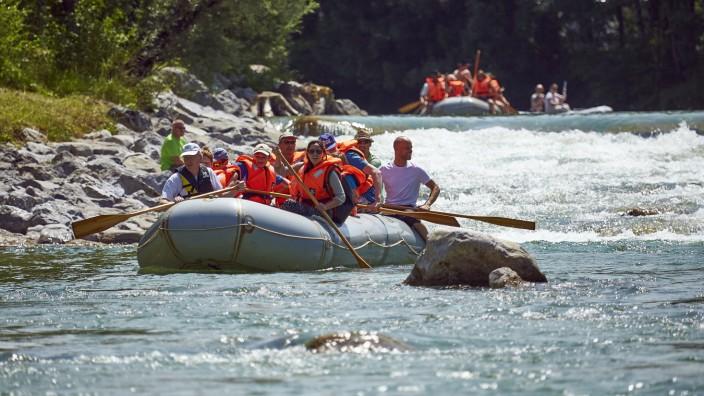 Isar Stromschnellen Kajak Kanu Schlauchboot