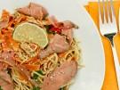 schnelle asiatische Sesamnudeln mit Roastbeef und Limette 2