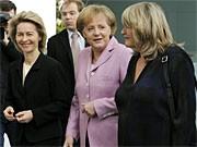 Ursula von der Leyen, Angela Merkel, Alice Schwarzer; dpa