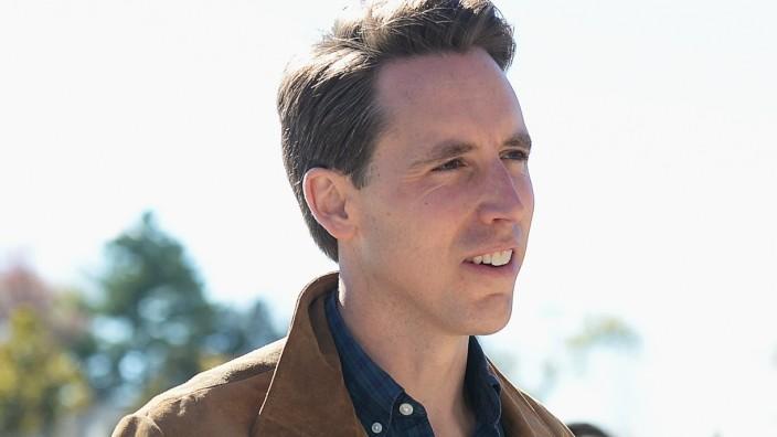 Missouri GOP Senate Candidate Josh Hawley Casts His Vote On Election Day