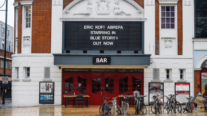 A Cinema Showing The Film Blue Story After It Was Withdrawn From Some Theatres