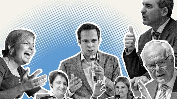 Politiker am Rednerpult