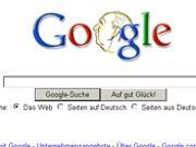Suchmaschine Google,  Screenshot: www.google.de