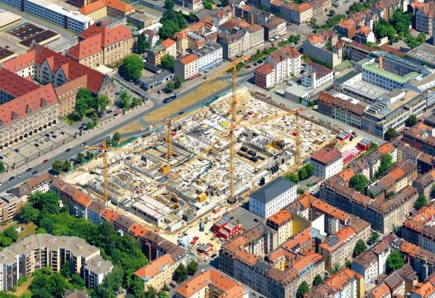 Luftbild; Baustelle Datev
