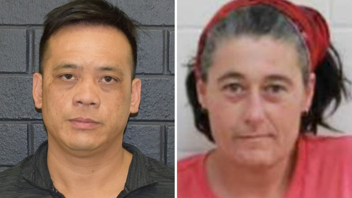 A supplied undated combined image shows Phu Tran and Claire Hockridge who have been missing in a remote area south of Alice Springs