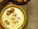 Bergkaesesuppe mit Weinsauerkraut und Laugen-Croutons 4
