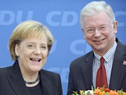 Roland Koch, Angela Merkel, ddp, Hessen-Wahl