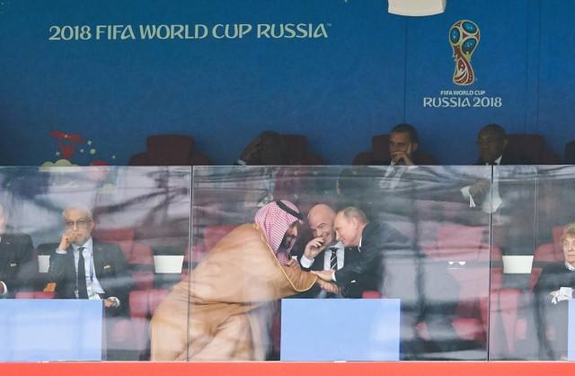 Russia Saudi Arabia Soccer Moscow June 14 2018 Crown Prince Mohammed bin Salman Gianni Infanti; imago35119016h