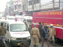 Fabrikbrand in Neu Delhi, Indien