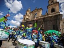 Protest in Kolumbiens Hauptstadt Bogotá