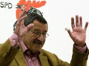 Günter Grass Wahlkampf für die SPD Lesereise Bundestagswahl 2009, rtr