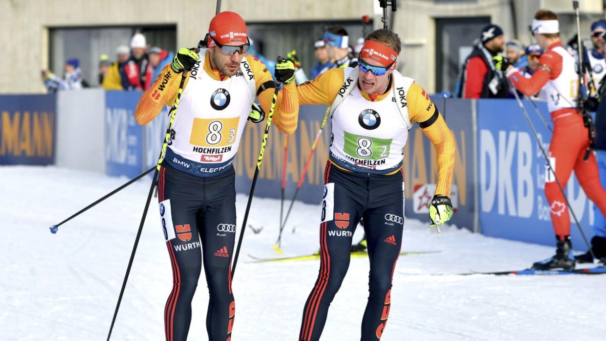 Deutsche Biathlon-Staffel holt 2. Platz in Hochfilzen