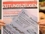 Projekt Zeitungszeugen, Nachdrucke von Nazi-Hetzblättern werden beschlagnahmt ddp