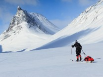 Kungsleden Schweden Lappland Winter Weitwanderweg Ski