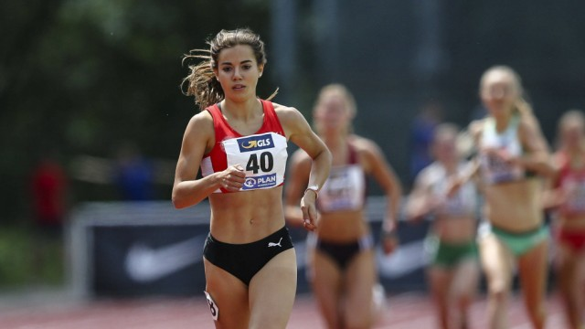 German U23 Championships Wetzlar 16 06 2019 winner over 1500m Jana Reinert LG Region Ka