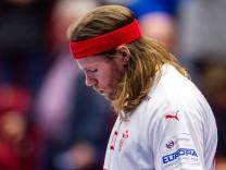 Sport Bilder des Tages 200113 Mikkel Hansen of Denmark looks dejected after the EHF European Handball Championship match; 46089292h