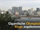 Riesige Olympische Ringe in Japan angekommen (Vorschaubild)