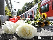 Blumen am S-Bahnhof in Solln; ddp