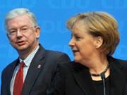 "Reaktion Hessen-Wahl, Merkel glaubt an ""bürgerliche Mehrheit"", Koch, dpa"