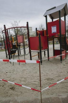 Haar, Corona-Krise, Spielplatz, bereits heute geschlossen, Foto: Angelika Bardehle