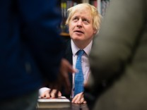 London Mayor, Boris Johnson, promotes his new book, The Churchill Factor at Politics and Prose bookstore.
