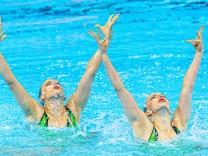 GER Germany BOJER Marlene REINHARDT Daniela Gwangju South Korea 16 07 2019 Artistic Swimming Duet; Synchronschwimmen
