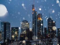 Schneeregen in Frankfurt/Main