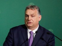 FILE PHOTO: Hungary's PM Orban takes part in an annual business conference