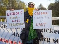 Demonstration gegen Atomtransporte nach Russland